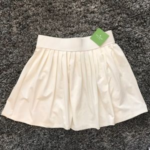 NWT Kate Spade White Pleated Skirt